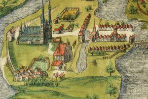 Poznańska katedra w najstarszym widoku perspektywicznym z ok. 1618 r.