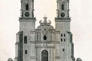 Projekt przebudowy fasady zachodniej katedry opublikowany w 1838 r.