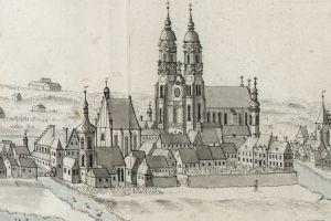 Wygląd katedry po przebudowie z około 1730 r., według projektu wybitnego architekta Pompea Ferrariego.