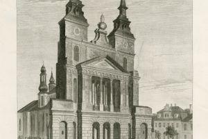 Staloryt z widokiem katedry wykonany w latach 30.-40. XIX w. według rysunku Konstancji Raczyńskiej.
