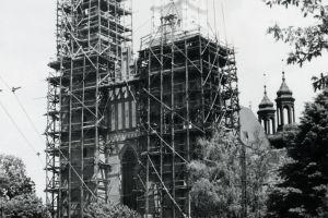 Fotografia z 9 czerwca 1956 r., wykonana przez ówczesnego Miejskiego Konserwatora Zabytków Henryka Kondzielę.