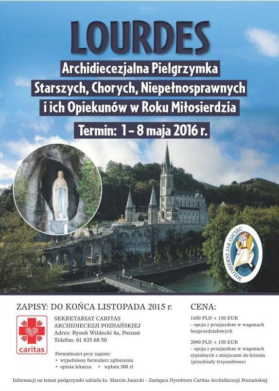 Oglądasz obraz z artykułu: XXVIII Archidiecezjalna Pielgrzymka do Lourdes, 3-6.5.2016