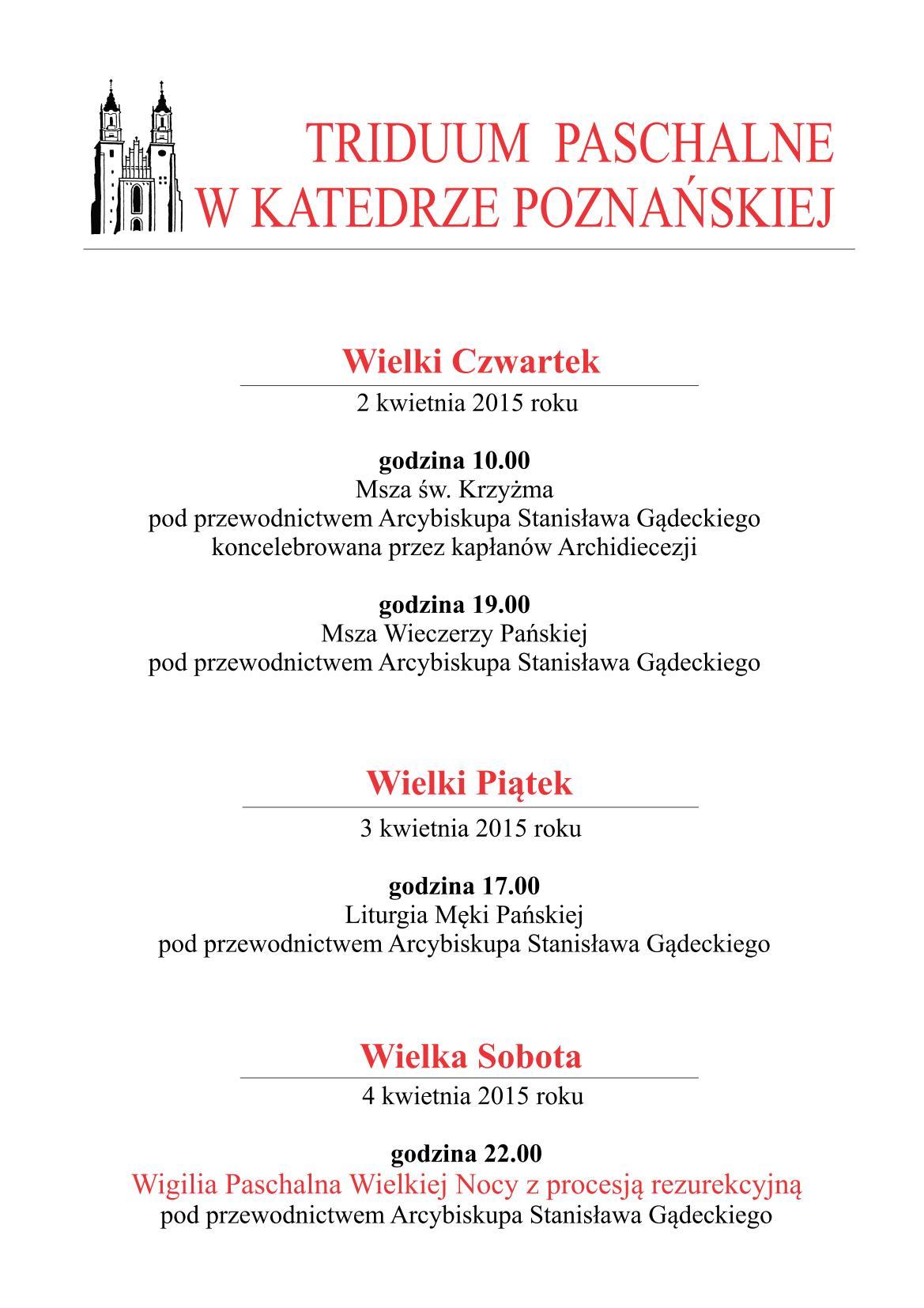 Ogl�dasz obraz z artyku�u: Triduum Paschalne w Katedrze Pozna�skiej 2015