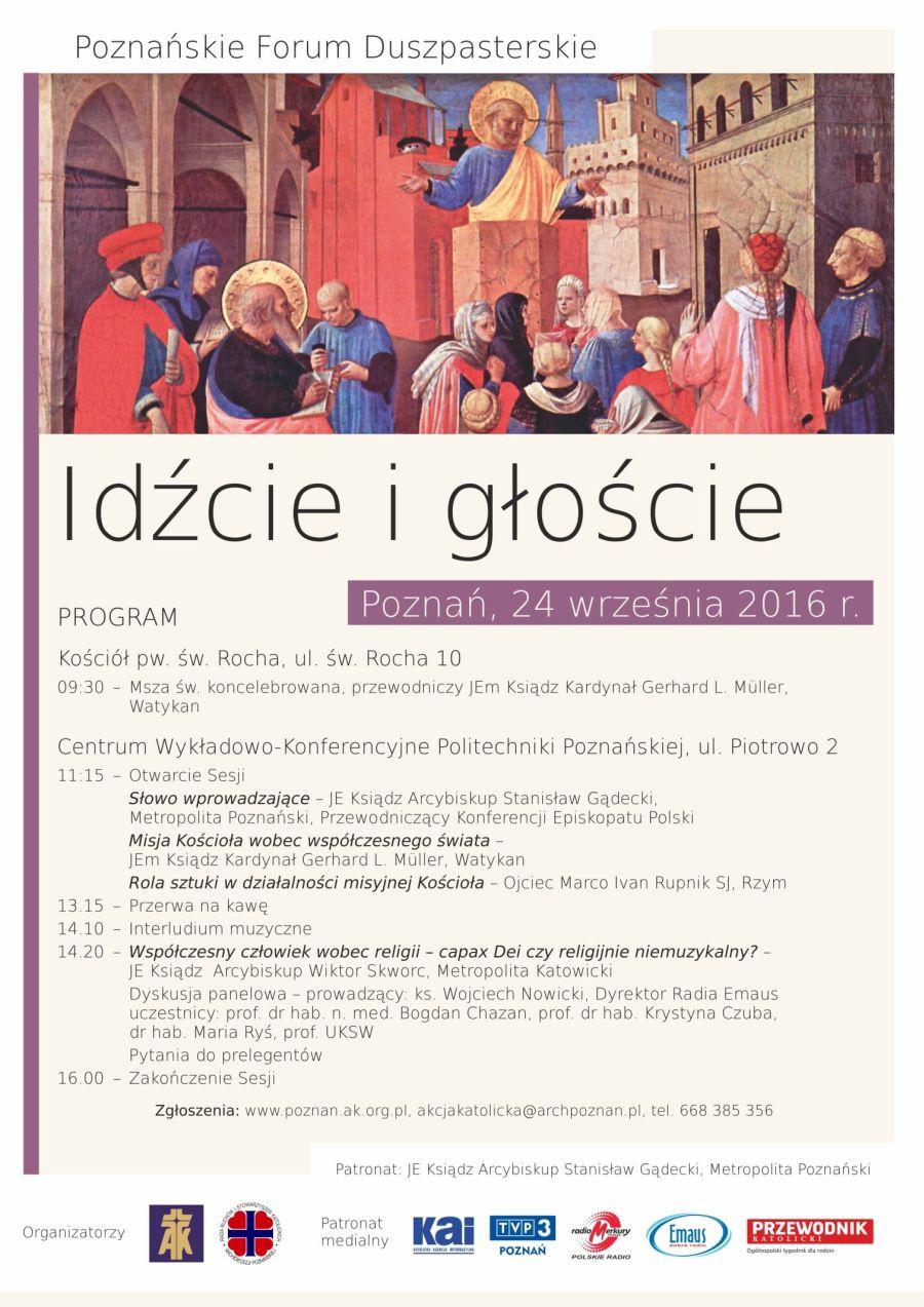 Ogl�dasz obraz z artyku�u: Pozna�skie Forum Duszpasterskie 2016
