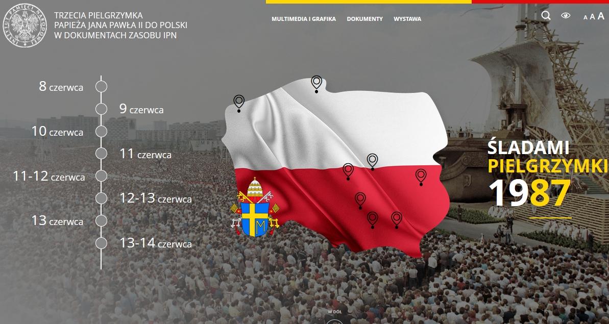 Oglądasz obraz z artykułu: Portal o III pielgrzymce Jana Pawła II do Polski