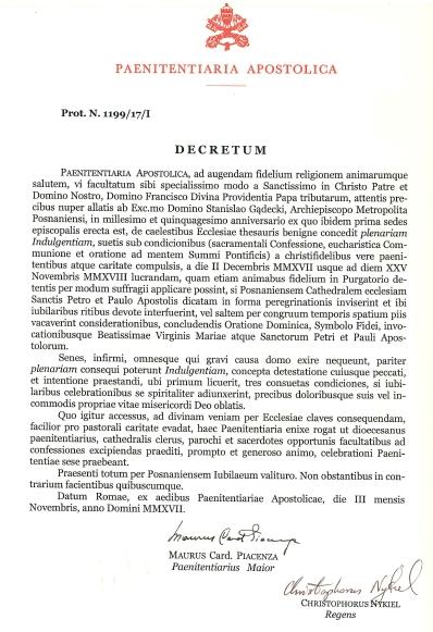Oglądasz obraz z artykułu: Odpust jubileuszowy w katedrze poznańskiej