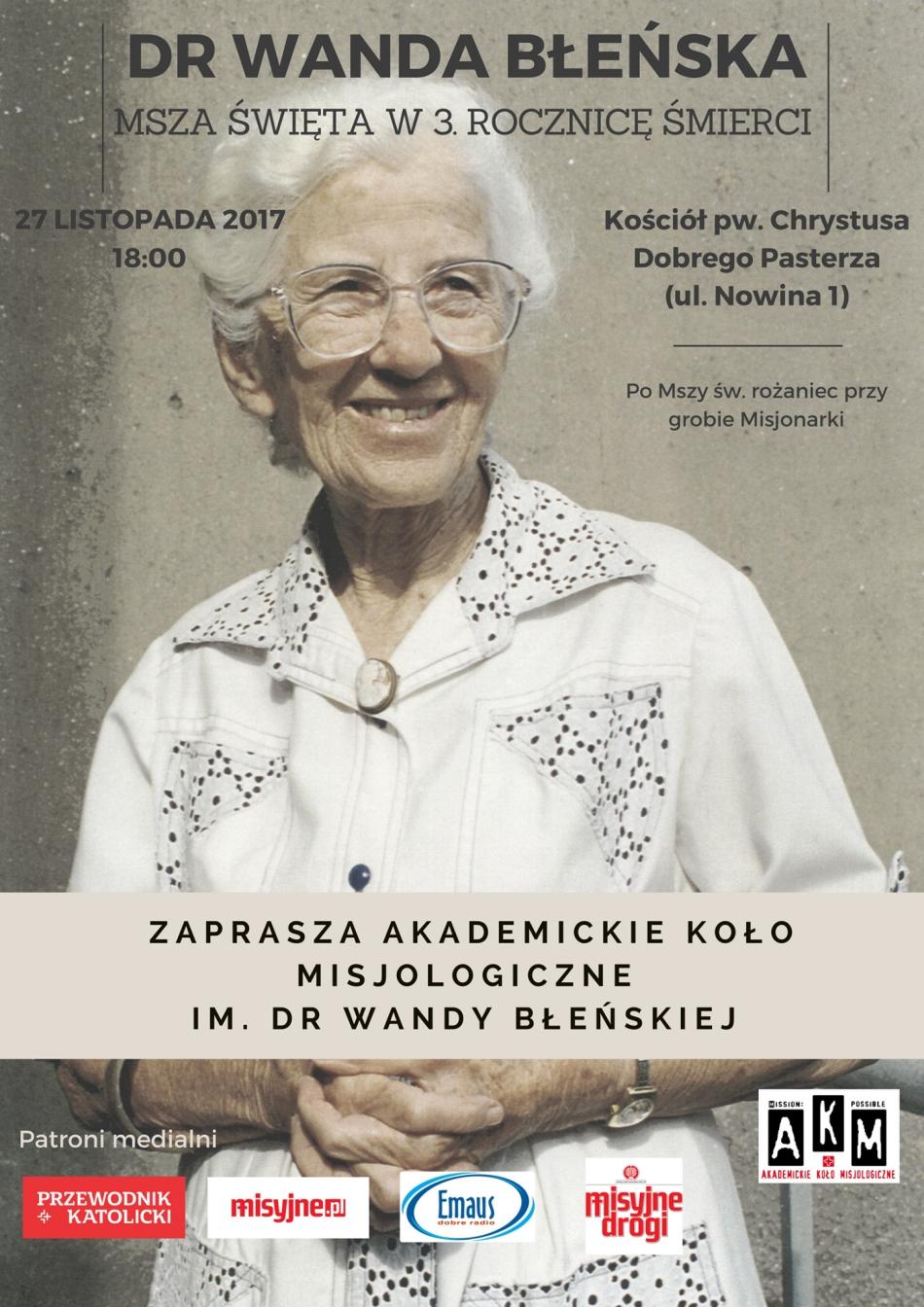 Oglądasz obraz z artykułu: 3. rocznica śmierci dr Wandy Błeńskiej