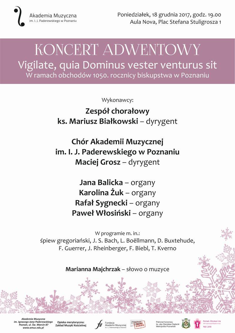 Oglądasz obraz z artykułu: Koncert adwentowy 'Vigilate, quia Dominus vester venturus sit'