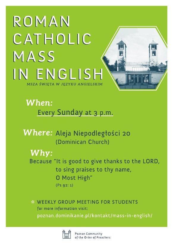 Oglądasz obraz z artykułu: Mass in English