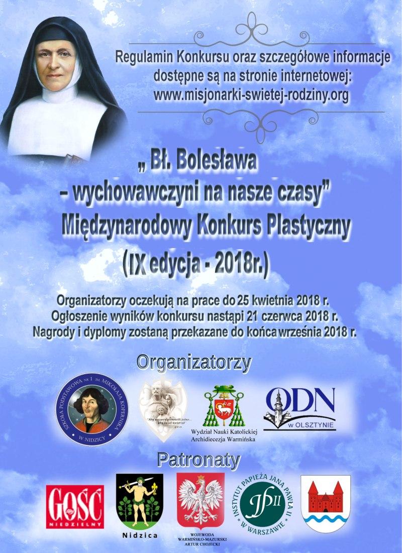 Oglądasz obraz z artykułu: Międzynarodowy Konkurs Plastyczny 'Bł. Bolesława - wychowawczyni na nasze czasy'
