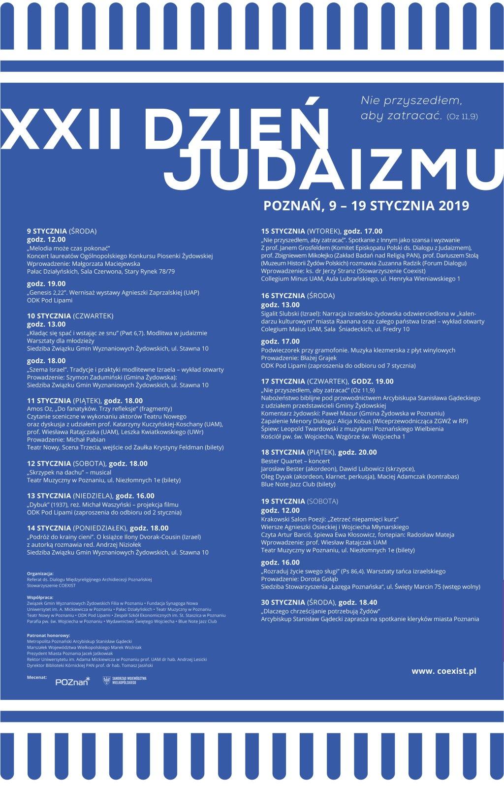 XXII Dzień Judaizmu - Archidiecezja Poznańska